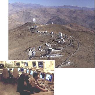 Osservatorio Europeo del Sud, sulle Ande Cilene e sala di controllo