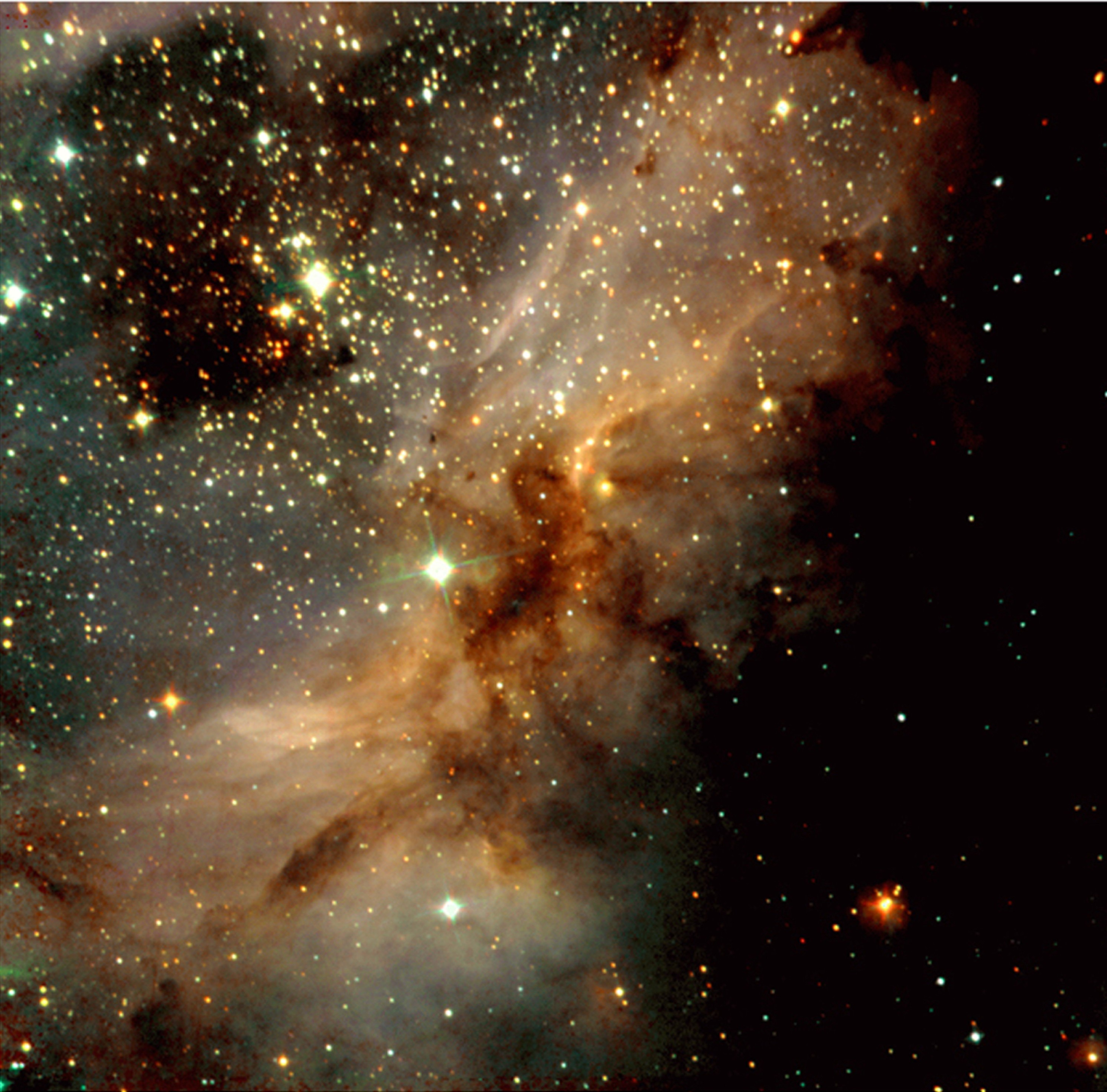 Nebula: come appare in IR una nube interstellare che sta formando stelle